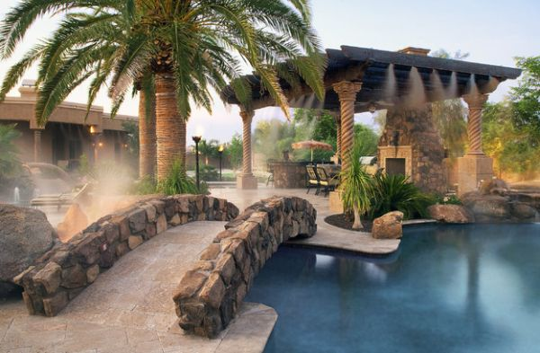 How about adding a few sprinklers to the pergola