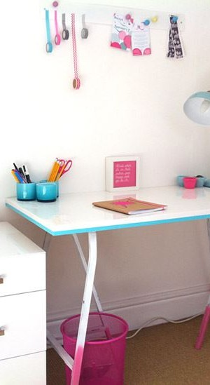 IKEA desk with DIY updates