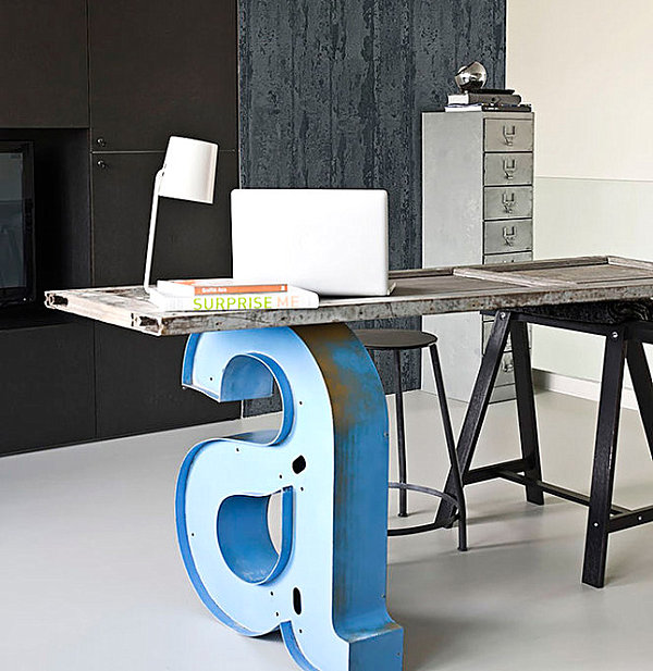 Office Desk Europalets Endsdiy Intended View In Gallery Industrial Desk With Letter Leg Diy Office Desks For The Modern Home