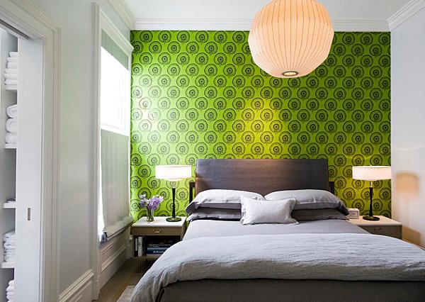 Interesting lighting in a modern bedroom