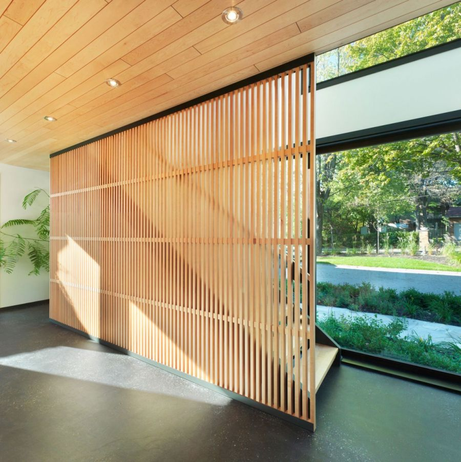 Large sliding doors for privacy