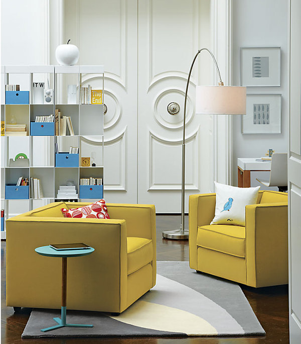 yellow chairs for living room. Lemongrass yellow chairs Sunny Yellow Furniture Finds for a Radiant Interior