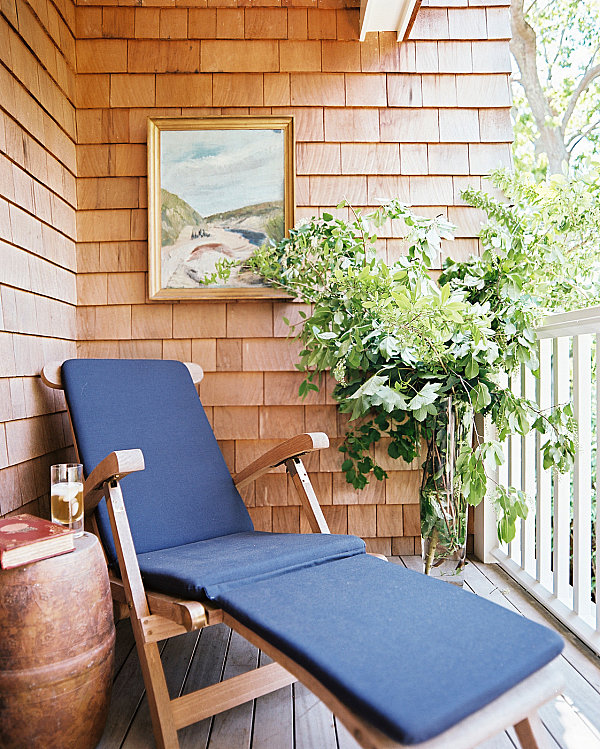 Lounge Chair On A Small Balcony
