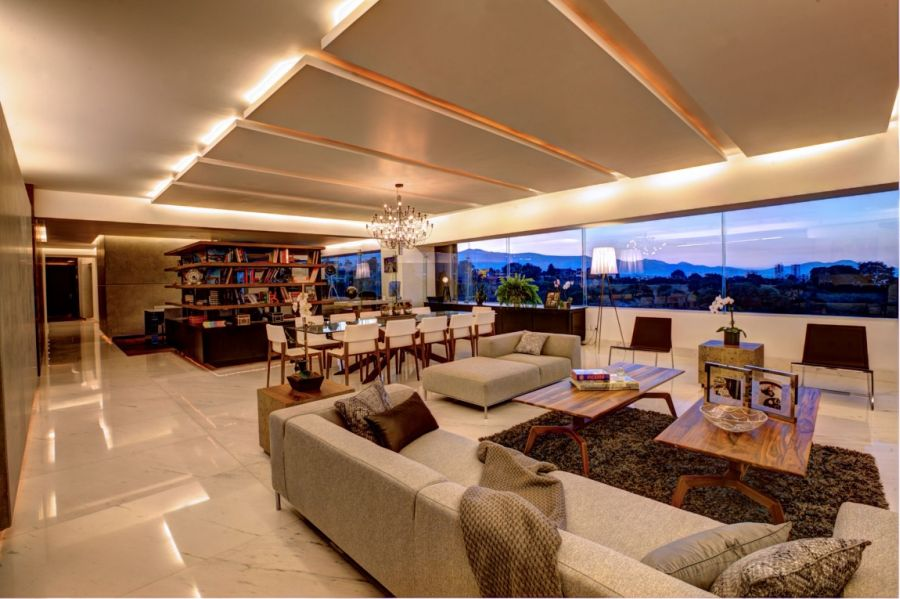 Lovely interiors of P-901 Residence in Mexico