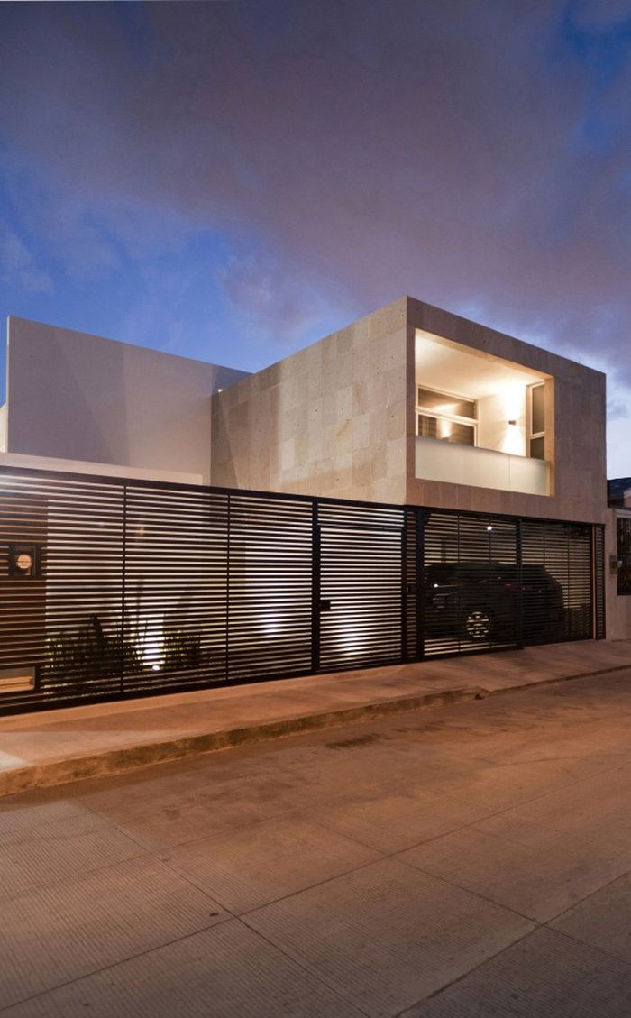 Lovely outdoor lighting idea Interior Courtyard And High Ceiling Shape Clever Cancún House