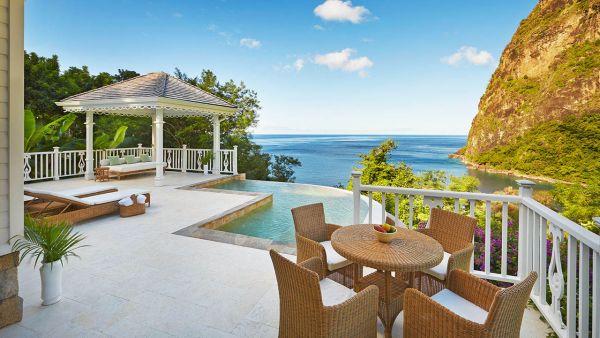 Luxury villa pool at Sugar Beach