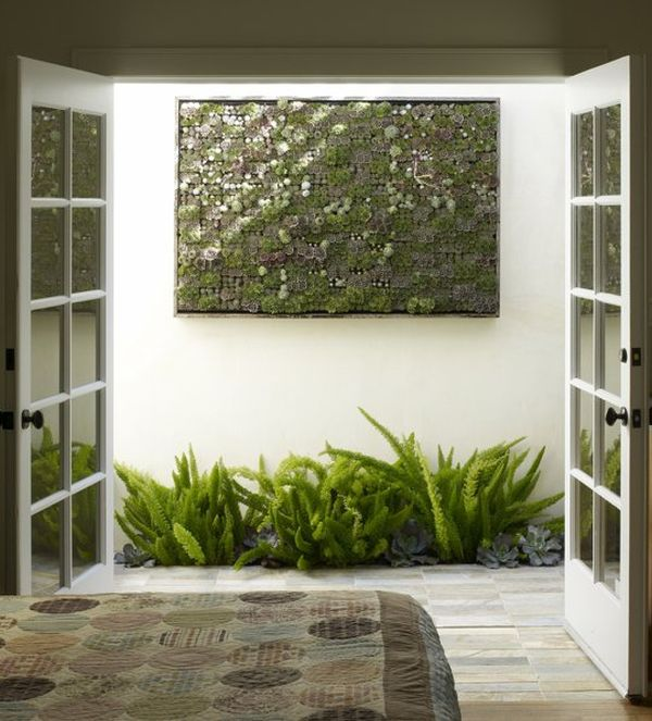 Make sure you find the right spot for your living wall installation