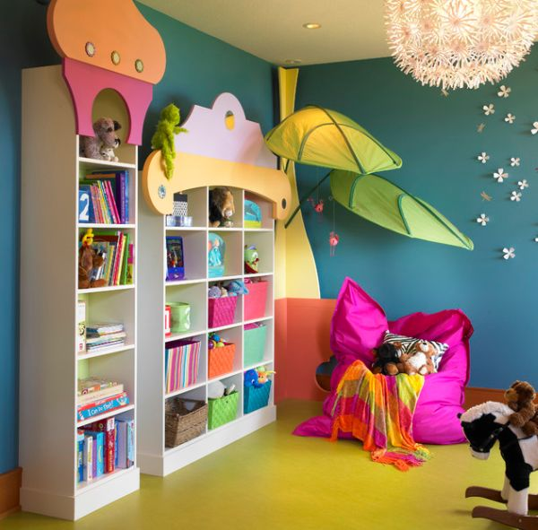 Kids Rooms Climbing Walls And Contemporary Schemes: 40 Kids Playroom Design Ideas That Usher In Colorful Joy