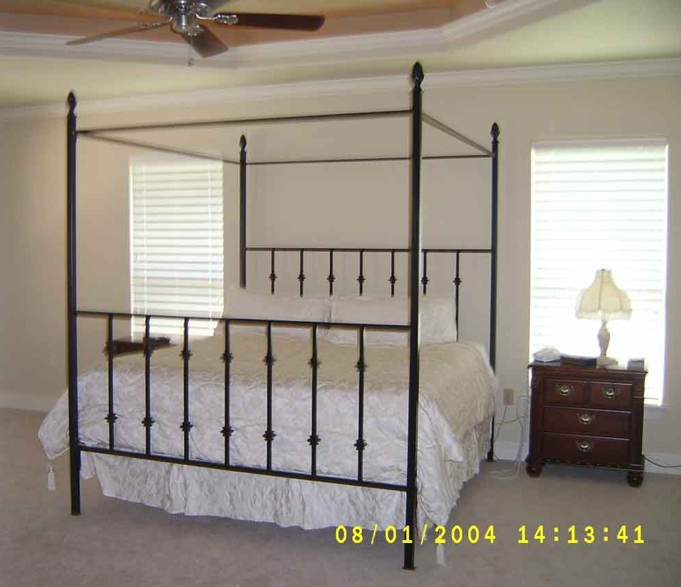 Metalcraft of Pensacola Wrought Iron Canopy Bed