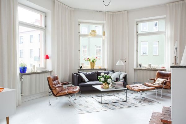 Modern apartment in Sweden with cool Scandinavian style