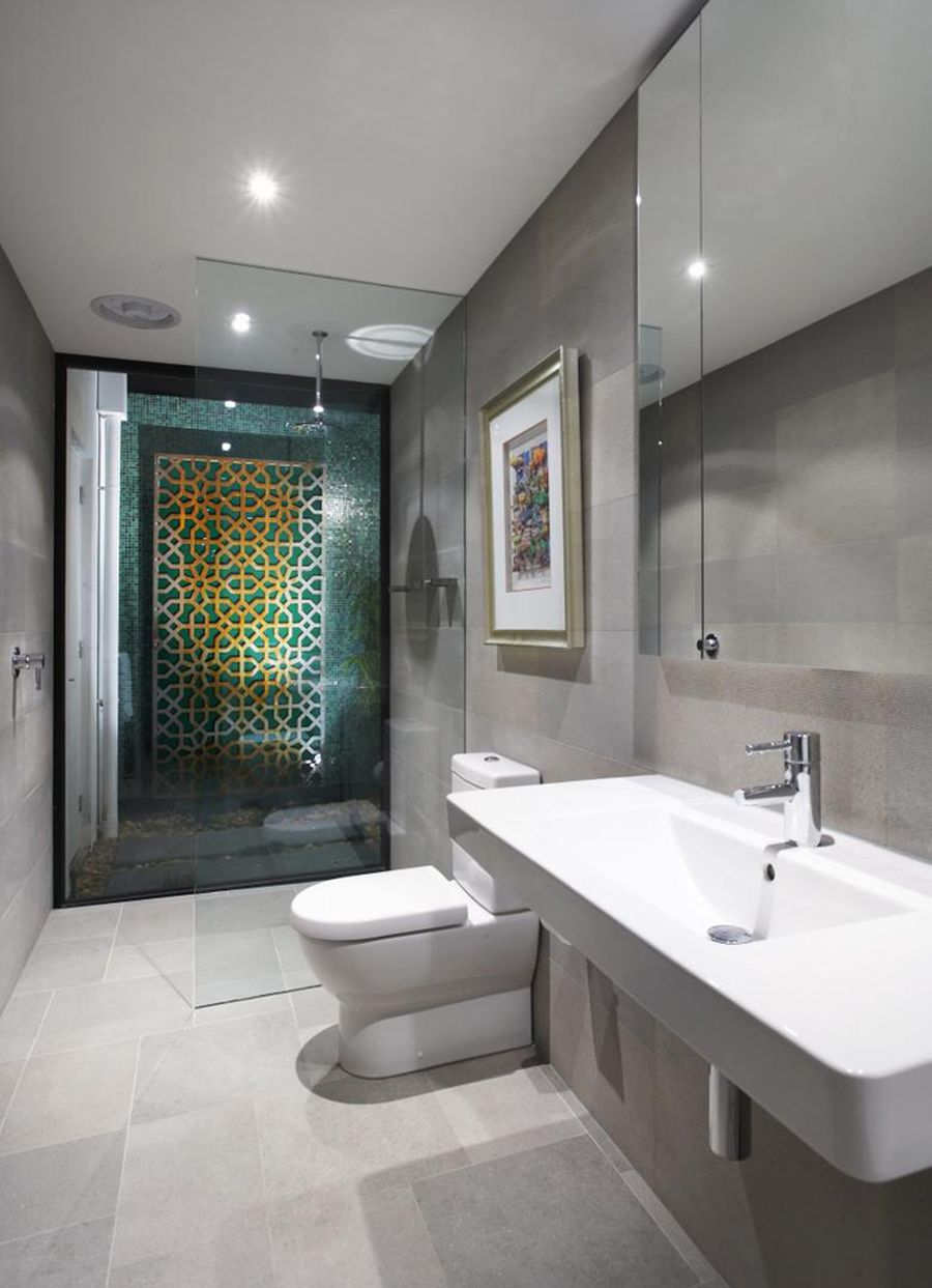 Modern bathroom at the Balaclava Road house