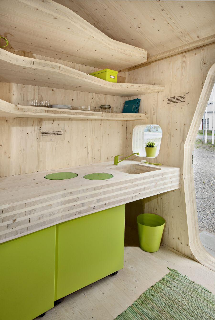 Modern kitchen inside the unit