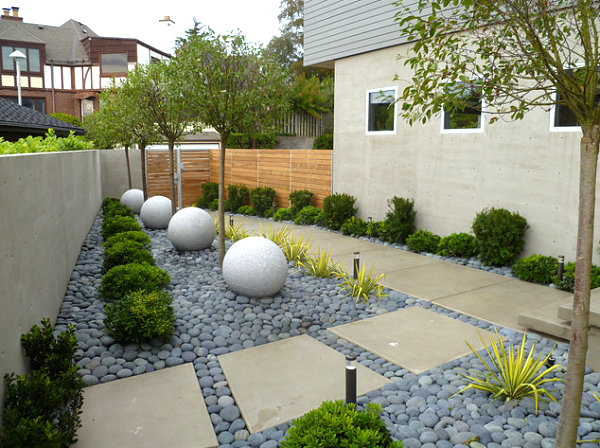 Modern landscaped yard in Seattle 18 Modern Outdoor Spaces
