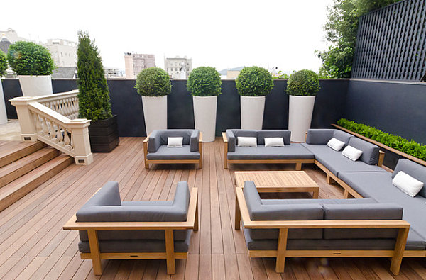 18 modern outdoor spaces. Black Bedroom Furniture Sets. Home Design Ideas