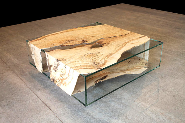 Modern table with reclaimed wood
