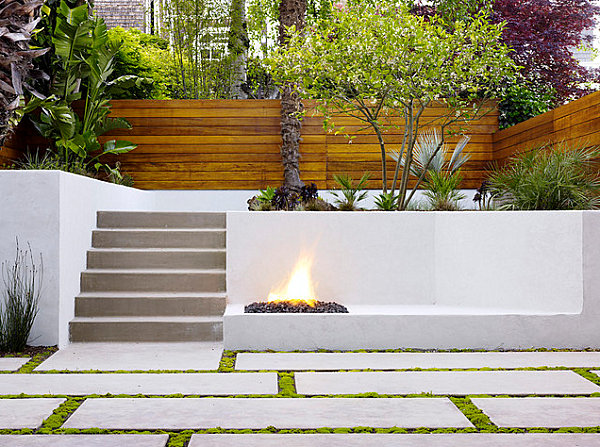 Modern tile in an outdoor space