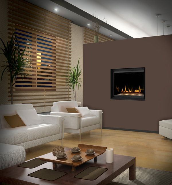 Napoleon Crystallo Gas modern fireplace in the bedroom