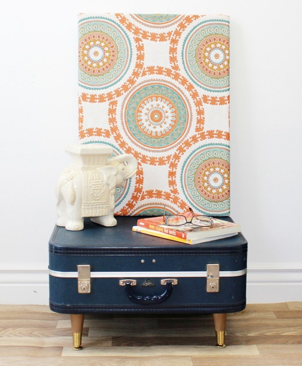 View In Gallery Navy Blue Suitcase Coffee Table