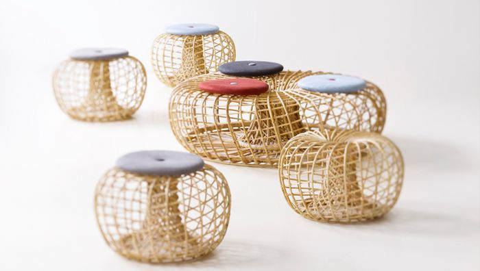 Nest collection from Cane-Line designed by Foersom & Hiort-Lorenzen