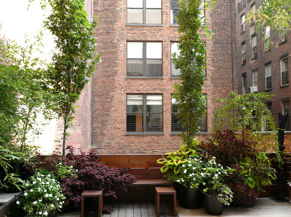 New York terrace garden