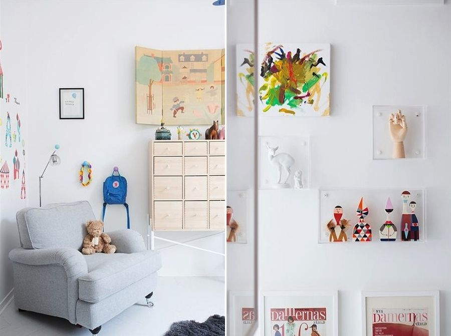 Nursery with bright wall additions