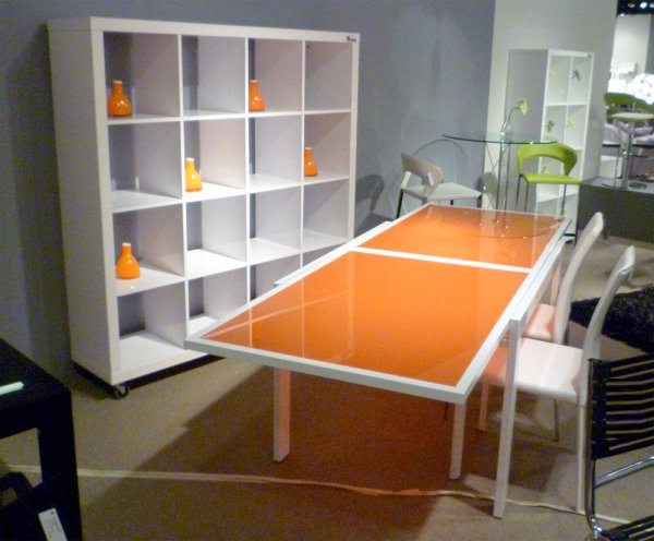 Orange dining table