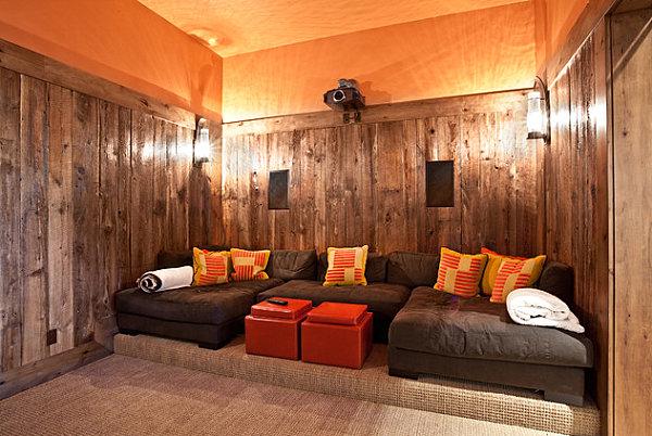 Orange modular coffee table solution
