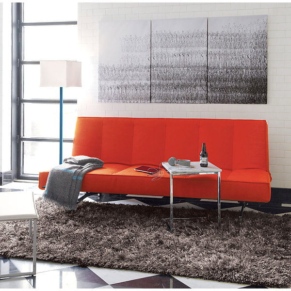 Orange sleeper sofa Bright Orange Furniture Finds for a Vibrant Interior
