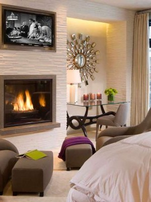 Perfect use of the space next to the fireplace