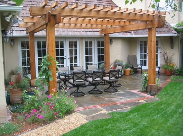 Pergolas work brilliantly in relatively small backyards as well