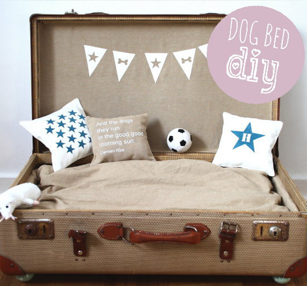 View In Gallery Portable Suitcase Dog Bed
