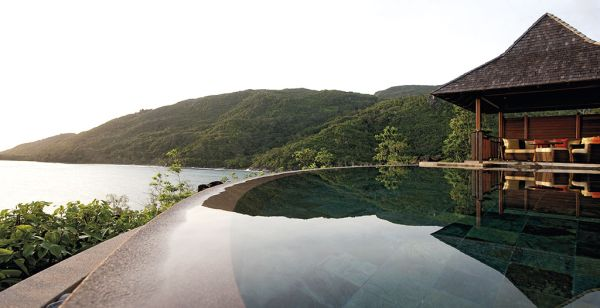Breathtaking pool at Constance Ephelia Resort, Seychelles