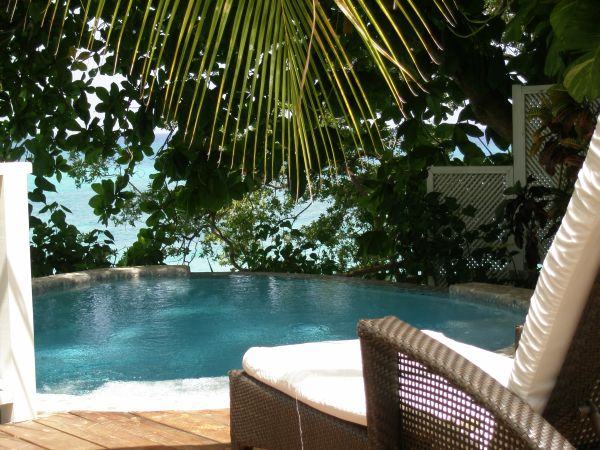 Private plunge pool at the cottage in Jamaica Inn