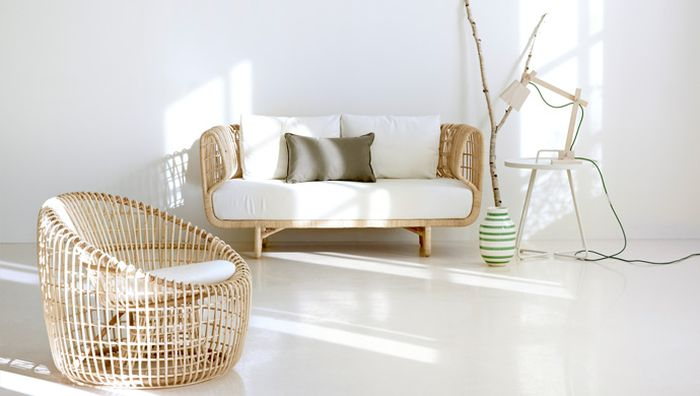 Rattan lounge chair and sofa from Cane-Line