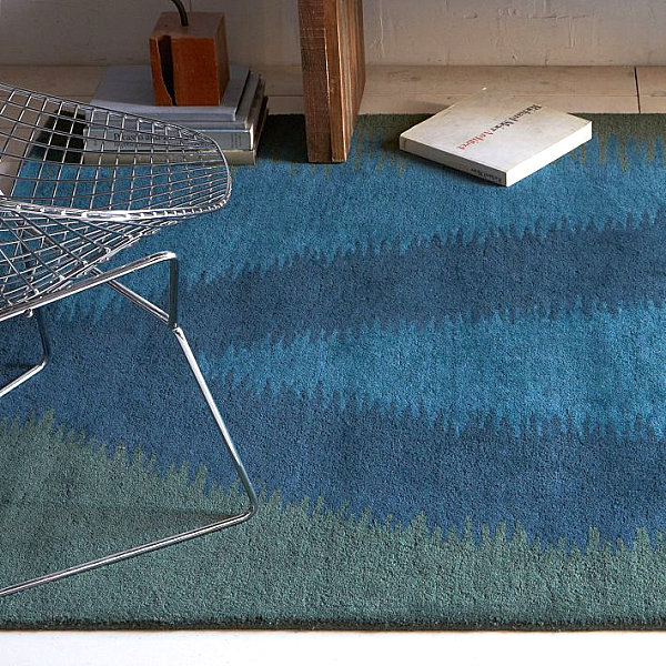 Rich-toned wool rug