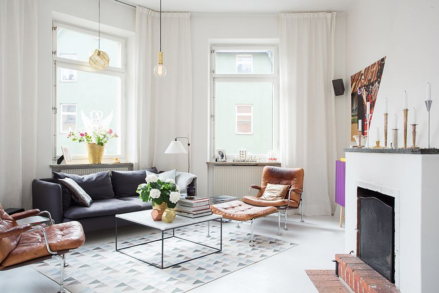 Modern swedish apartment with snazzy scandinavian charm - Swedish interior design ...