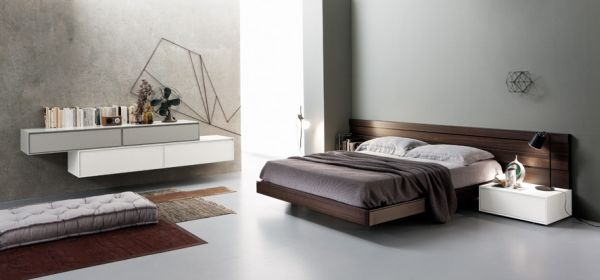 Modern beds for modern luxury bedrooms - Artistic wood clad design for warm essence in your house ...