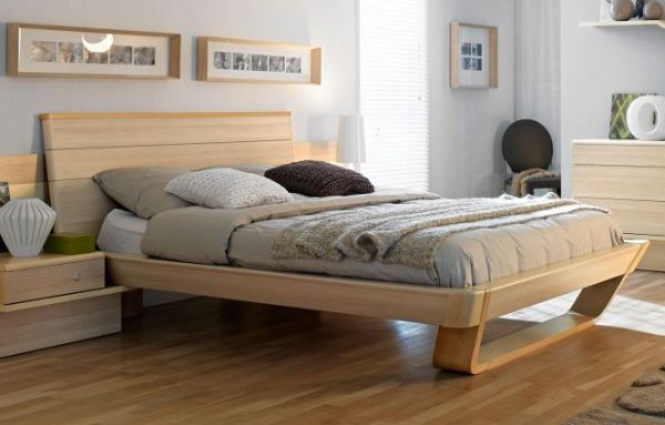 view in gallery shannon collection - Modern Wood Bed Frame
