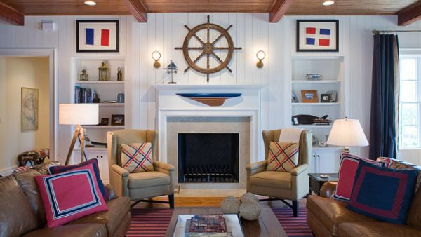 nautical decor ideas from ship wheels to starfish. Black Bedroom Furniture Sets. Home Design Ideas