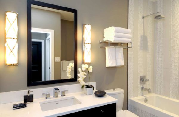 beautiful bathroom towel display and arrangement ideas - Bathroom Accessories Display