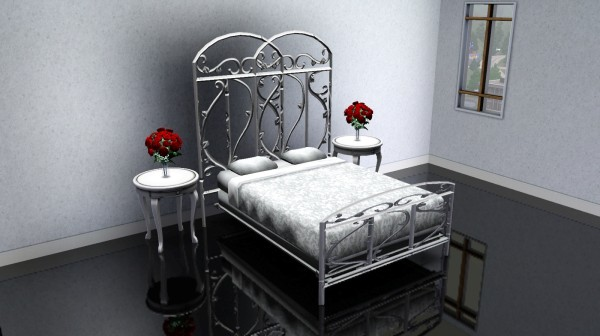Sims 3 CC Gallery Wrought Iron Bed in White