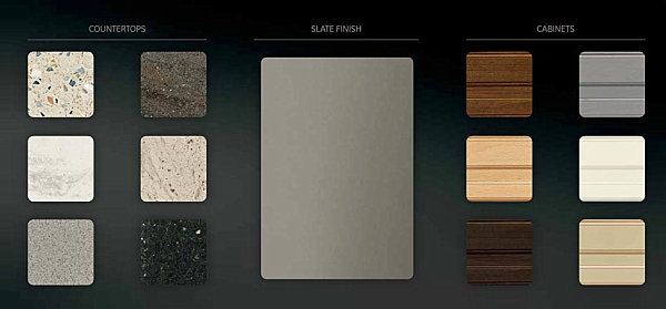 Slate pairs well with a variety of materials and colors