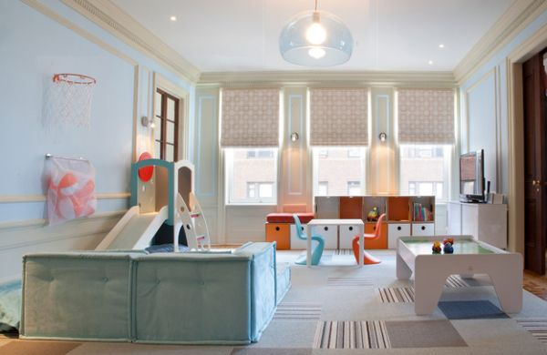 Sleek, contemporary take on the kids' playroom