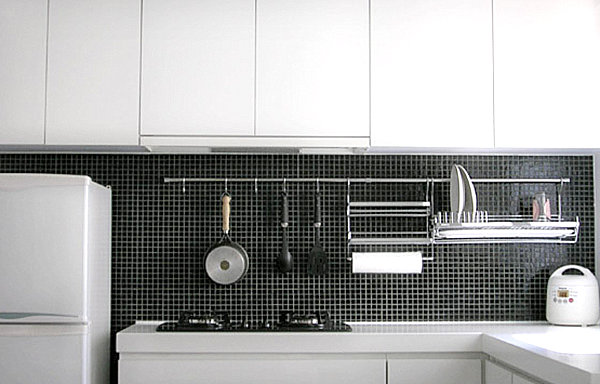 Sleek display of kitchen equipment