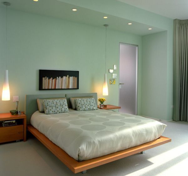 View In Gallery Sleek Pendants Fit In With The Contemporary Theme Of The  Bedroom Part 7