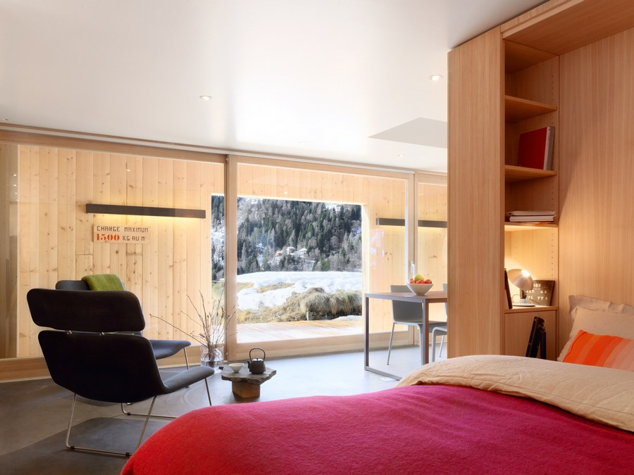 Spacious conscious design inside the chalet