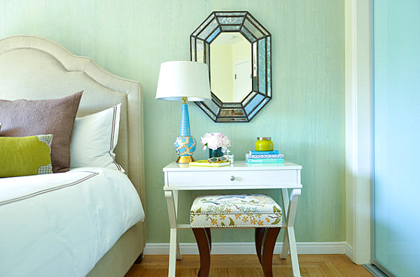 Special touches in a soothing bedroom