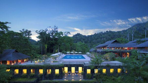 Spectacular pool at Datai Langkawi, Borneo
