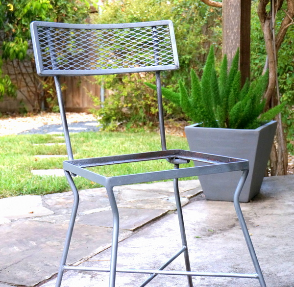 Spray-painted chair frame