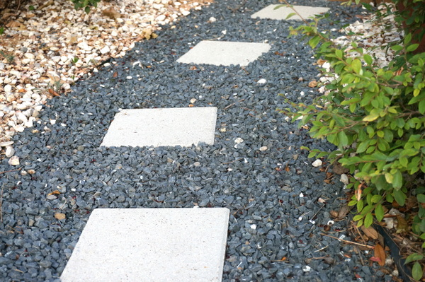 Stepping stones on a gravel path